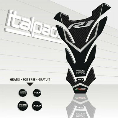 AU20.84 • Buy Tank Pad  Detroit  Gray Scale Carbon Look For Yamaha R1