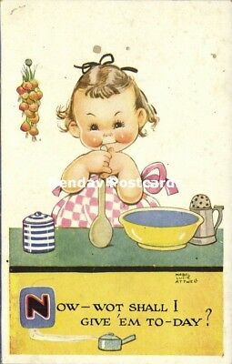 $7.99 • Buy Artist Signed Mabel Lucie Attwell No. 808,  Now, Wot Shall I Give 'em To-Day?
