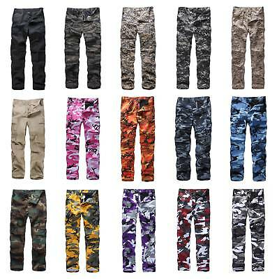 $29.59 • Buy Mens Military Army BDU Pants Casual Multi-Pocket Camouflage Cargo Pants Trousers