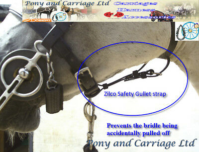 £15.50 • Buy Zilco Carriage Driving Bridle Gullet Safety Strap - Pony Cob / Full Size