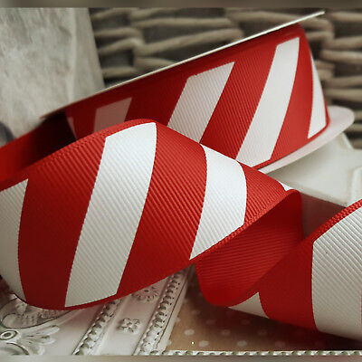 £1.49 • Buy 38mm Christmas Candy Cane Stripe Ribbon Red And White Cake Xmas Tree Gift Stripe