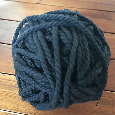 AU14.95 • Buy BLACK Macrame 100% Soft Cotton Cord Rope - 3-4mm For Wall Art/macrame/looms