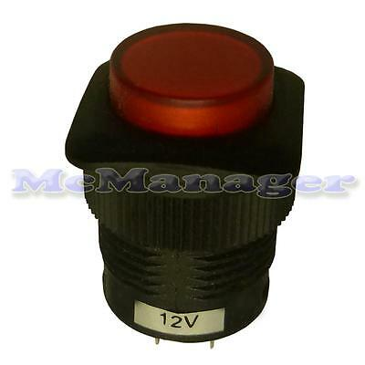 Illuminated Red Push Button Switch Light Led 4 Pins 1.5A/250V • 3.89£