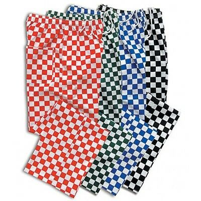 Chef Trousers Chef Blue, Red, Black And White Check Chef Pants Uniform Unisex • 7.99£