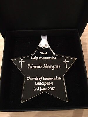 Personalised First Holy Communion Star Keepsake, Gift  • 6.50£