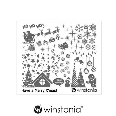 $4.95 • Buy Winstonia Christmas Nail Art Stamping Plate Winter Holiday Gift Manicure Tip USA