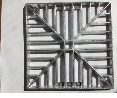 £18.95 • Buy 230mm (9 ) Square Metal Alloy Gully Grid Grate Drain Cover No Rust Man Hole