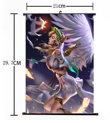 AU9 • Buy Hot Japan Anime Overwatch Mercy Art Home Decor Poster Wall Scroll 8 X12  09