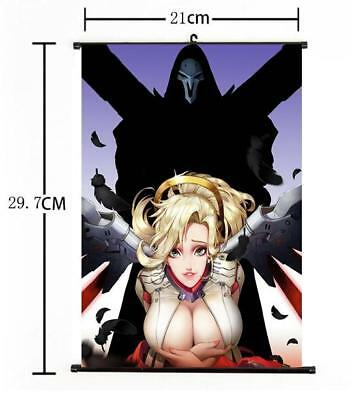 AU3.85 • Buy Hot Japan Anime Overwatch Mercy Art Home Decor Poster Wall Scroll 8 X12  10