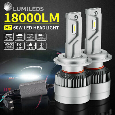 AU59.95 • Buy 2x Philips H7 Led Headlight Kit 18000LM Hi/Low Beam Vehicle Car Replace Halogen