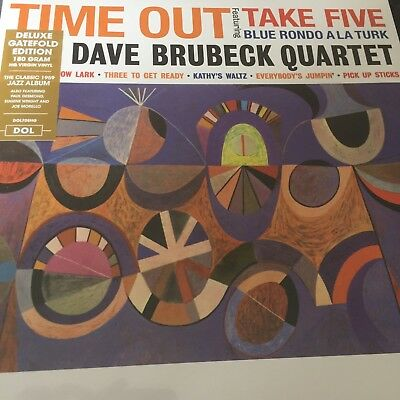The Dave Brubeck Quartet 'Time Out' 180g Vinyl LP - Deluxe Gatefold NEW & SEALED • 13.89£