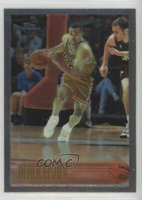 1996-97 Topps Chrome #206 Derek Fisher Los Angeles Lakers RC Rookie Card • 5.99$