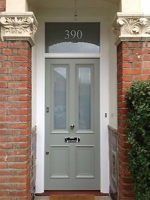 Victorian Door Numbers, Glass, Fanlight Numbers Gold White Silver Colour • 6.50£