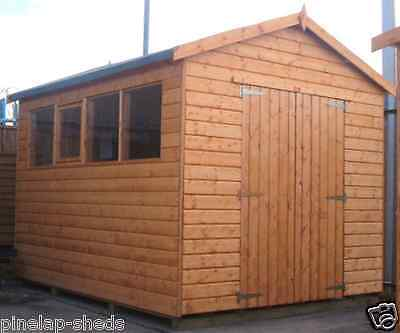 16x10 WOODEN WORKSHOP GARAGE FULLY T&G SHED STORE 16FT X 10FT APEX OR PENT ROOF • 2,149.28£