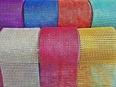 Metre Multi-Coloured Diamante  Diamond Rhinestone Effect Ribbon Trim Mesh Cake • 0.99£