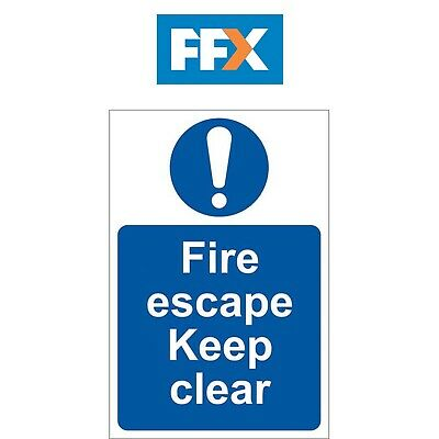 Draper SS09 'Fire Escape Keep Clear' Mandatory Sign • 12.99£