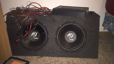 $180 • Buy 12 Inch MA Audio Subwoofers With Professional Box