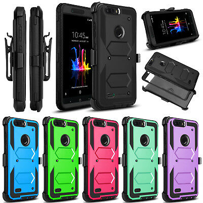$8.87 • Buy For ZTE Blade Z Max Z982 Shockproof With Kickstand Holster Clip Phone Case Cover