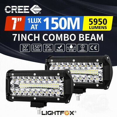 AU29.95 • Buy 2x 7inch CREE LED Light Bar Spot Flood Combo Work Driving Lights OffRoad 4WD 6