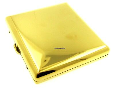 Cigarette Case -- Champ Ice Gold Coloured Metal 20 King Size -- NEW • 7.49£