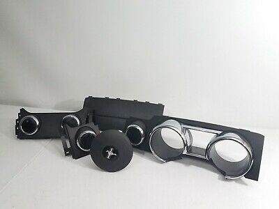 $404.99 • Buy Ford Mustang Dash Trim Air Vents  Cluster Bezel Airbag Black & Chrome