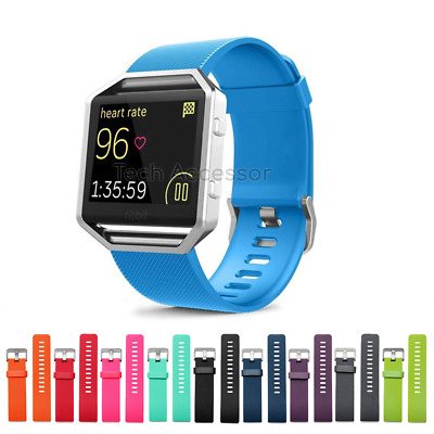 $ CDN6.75 • Buy For Fitbit Blaze Strap Band Replacement Metal Buckle Silicone Watch Wristband