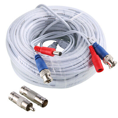 AU18.99 • Buy SANNCE 1x 30M White BNC Video Power Extension Cable For CCTV DVR Security System