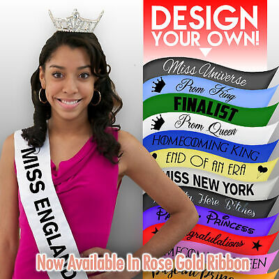 £3.95 • Buy Personalised Pageant/Prom Sash Homecoming King Queen Decoration Party Present
