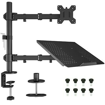"Laptop Notebook Stand Monitor Arm Desk C-Clamp Mount Fully Adjustable 13""-27"" • 32.99£"