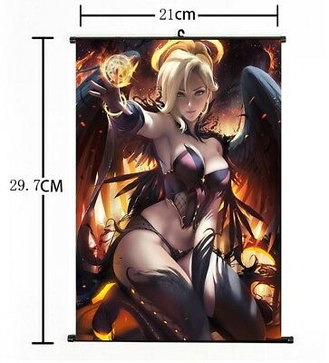 AU9 • Buy Hot Japan Anime Overwatch Mercy Art Home Decor Poster Wall Scroll 8 X12  FL870