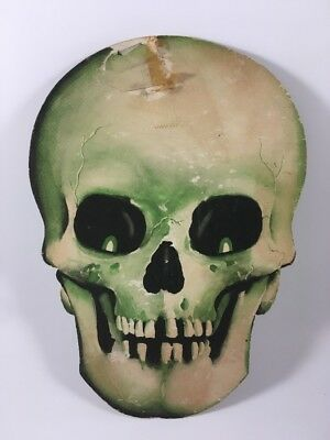 $ CDN57.23 • Buy Vintage Scary Skull Halloween Die Cut Paper Decoration Beistle? Creepy