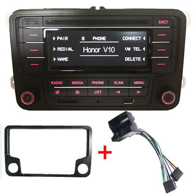 Car Stereo VW RCN210 With Cable Bluetooth CD USB AUX SD GOLF TIGUAN  PASSAT POLO • 69.90£