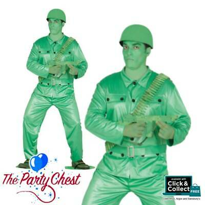 £22.95 • Buy PLASTIC ARMY MAN TOY SOLDIER COSTUME Mens Camouflage Fancy Dress Outfit 84349