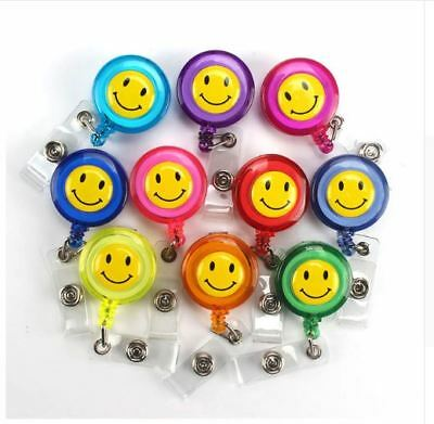 SMILEY FACE Retractable Reel Yoyo ID Badge Holder/Key Card Chain /Security  • 2.89£