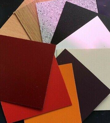 Formica Type Laminate Sheets VARIOUS COLOURS  900 X 300mm  0.8mm Thick • 20.79£