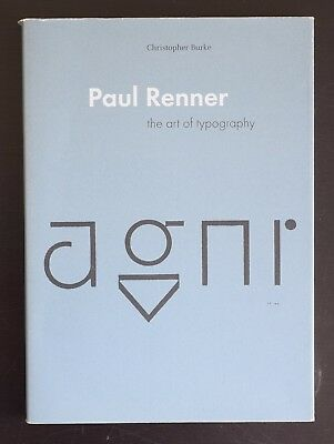 £59.59 • Buy Paul Renner # THE ART OF TYPOGRAPHY # 1998, Mint--