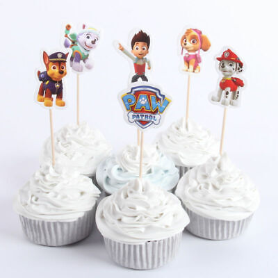 £3.99 • Buy 24Pcs Paw Patrol 12x Wrappers + 12x Toppers Children Party Cupcake Decoration