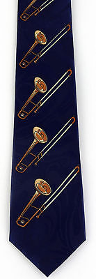 NEW! Slide Trombone Horn Band Musical Instrument Trombones Novelty Necktie  294 • 8.50$