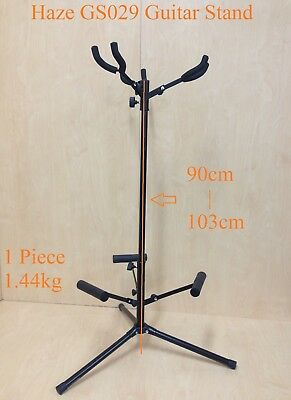 $ CDN31.58 • Buy Fully Collapsible Haze GS029 Metal-Rubber Structure,Tripod-Base 3-Guitar Stands