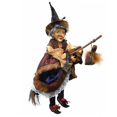 Witches Of Pendle - Maureen Witch Flying (Brown & Gold) 50cm (WOPMAUR50BROWGOLD) • 33.95£