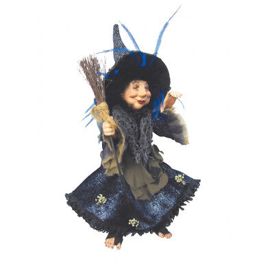 Witches Of Pendle - Rosemary Kitchen Witch Hanging Or Sitting (Blue) 35cm • 24.95£