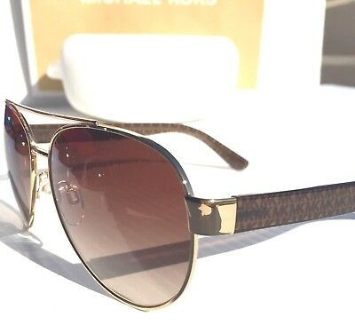 c85f8de2703 NEW  MICHAEL KORS AVIATOR Matte Brown Gold W Bronze Lens MK 1014 BLAIR  Sunglass •