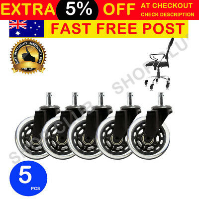 AU35.50 • Buy 3  Rollerblade Office Chair Wheels Replacement Rolling Casters (Set Of 5) Black