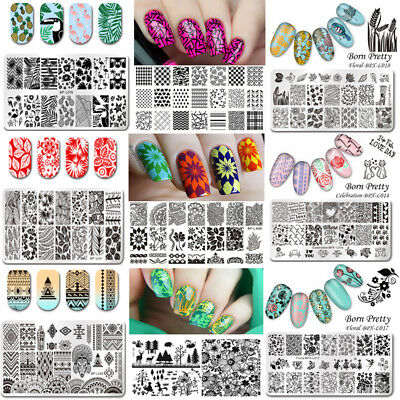 $1.89 • Buy BORN PRETTY Nail Stamping Plates Nail Art Image Stencils Templates Decoration