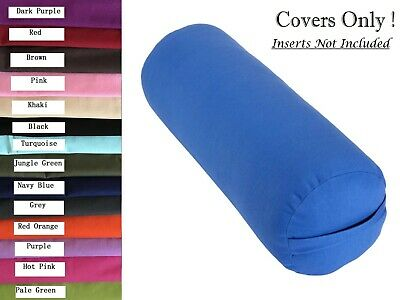 AU22.95 • Buy Cotton Yoga Bolster Cover To Fit Standard Bolster 75 X 25cm Diameter Two Layers