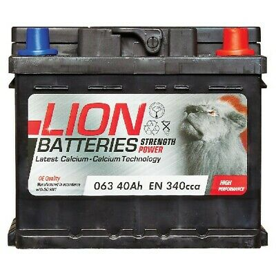 View Details Lion MF53646 063 Car Battery 3 Years Warranty 40Ah 340cca 12V Electrical • 35.74£