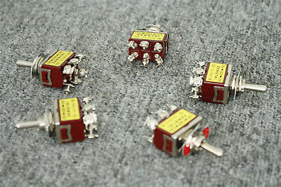 3 Position ON/OFF/ON 5Pcs Momentary Toggle Switch DPDT AC 250V/15A 125V/20A • 8.69$