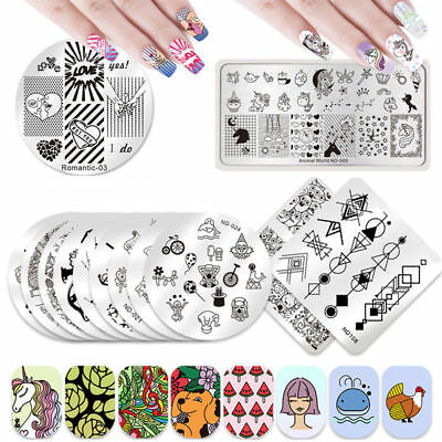 $0.99 • Buy NICOLE DIARY Nail Art Stamping Plates Image Templates  Decors Collection Tools