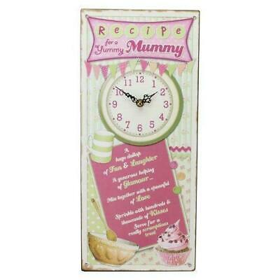 Recipes From The Heart Kitchen Wall Clock Plaque Yummy Mummy Christmas Mothers • 7.95£