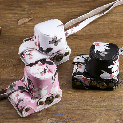 AU19.10 • Buy Butterfly Pattern Leather Camera Case Bag For Sony A5100 A6000 A6100 A6300 A6400